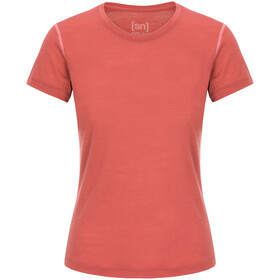 super.natural Base Tee 140 Naiset, tandoori/georgia peach